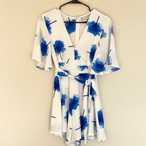 Blue floral romper from LF